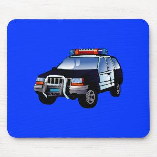 Cartoon Police Car Mouse Pad
