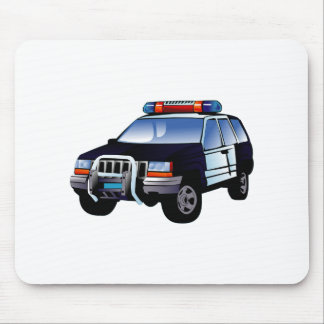 Cartoon Police Car Mouse Pad