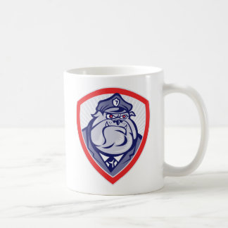 Cartoon Police Dog Watchdog Bulldog Shield Coffee Mug