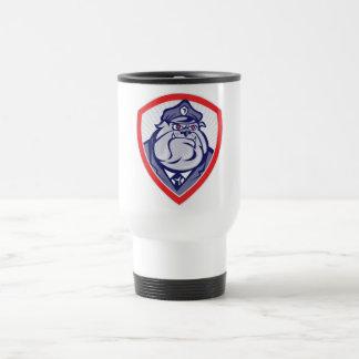 Cartoon Police Dog Watchdog Bulldog Shield Mug