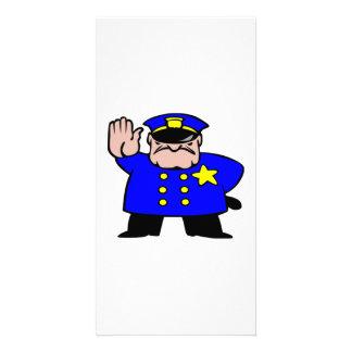 Cartoon Police Officer Card