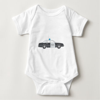Cartoon Police Patrol Car Baby Bodysuit