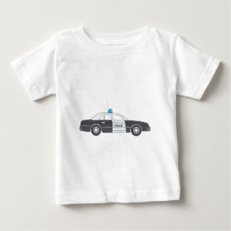 Cartoon Police Patrol Car Baby T-Shirt