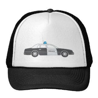 Cartoon Police Patrol Car Trucker Hats