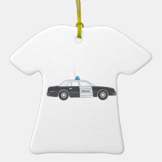 Cartoon Police Patrol Car Ornament