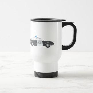 Cartoon Police Patrol Car Travel Mug