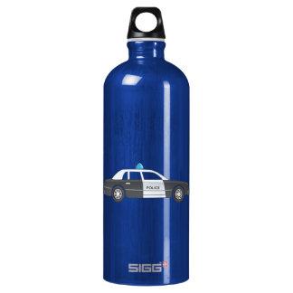 Cartoon Police Patrol Car Water Bottle