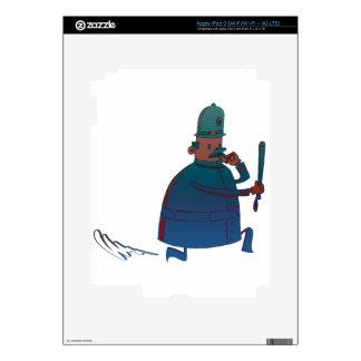 Cartoon Policeman Art Decals For iPad 3