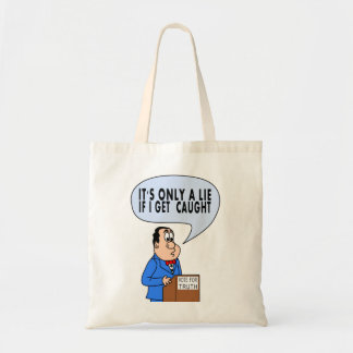Cartoon Politician on Podium Speaking Tote Bag