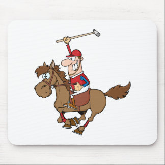 Cartoon Polo Player Mouse Pad