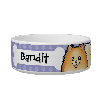 Cartoon Pomeranian Bowl
