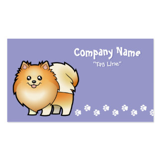Cartoon Pomeranian Double-Sided Standard Business Cards (Pack Of 100)