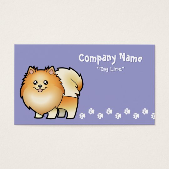 Cartoon Pomeranian Business Card