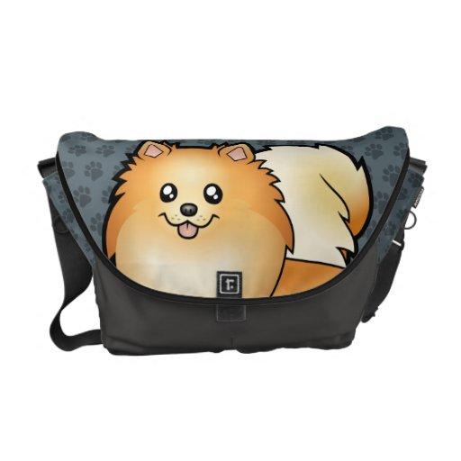 Cartoon Pomeranian Courier Bag