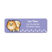 Cartoon Pomeranian Label