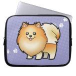 Cartoon Pomeranian Laptop Sleeves