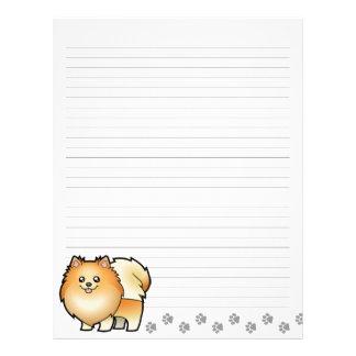 Cartoon Pomeranian Letterhead