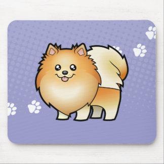 Cartoon Pomeranian Mouse Pad