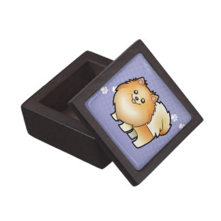 Cartoon Pomeranian Premium Trinket Box