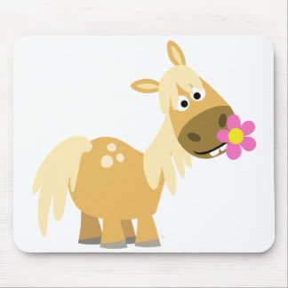 Cartoon Pony and Flower mousepad