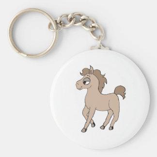 Cartoon Pony Basic Round Button Keychain