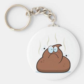 Cartoon Poop Basic Round Button Keychain