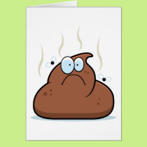 Cartoon Poop Card