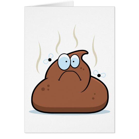 Cartoon Poop Card