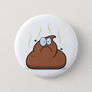 Cartoon Poop Pinback Button