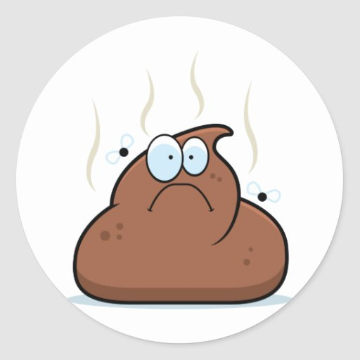 Cartoon Poop Stickers
