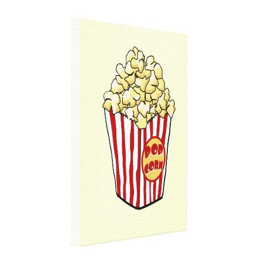 Cartoon Popcorn Bag Canvas Print