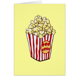 Cartoon Popcorn Bag Card