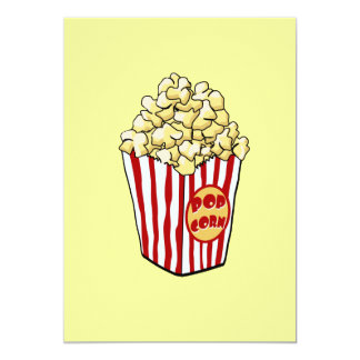Cartoon Popcorn Bag Invitation