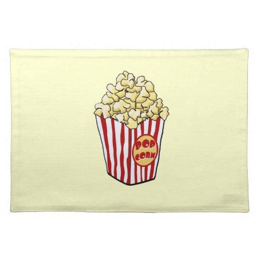 Cartoon Popcorn Bag Place Mats Zazzle