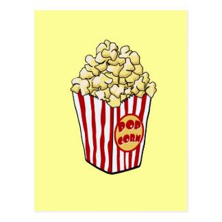 Cartoon Popcorn Bag Postcard