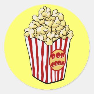 Cartoon Popcorn Bag Sticker