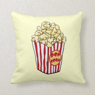 Cartoon Popcorn Bag Throw Pillow