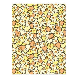 Cartoon Popcorn Postcard