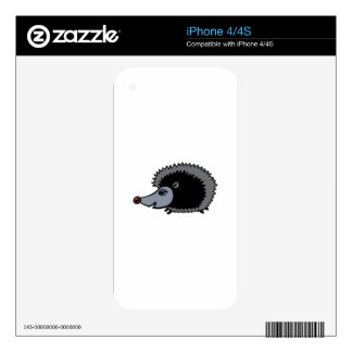 Cartoon Porcupine Decals For The iPhone 4
