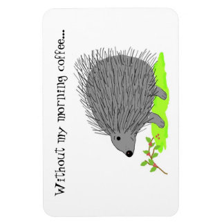 Cartoon Porcupine with Cute Saying Magnet