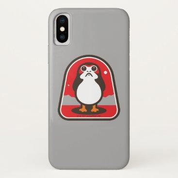 Cartoon Porg Badge iPhone X Case