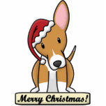 "Cartoon Portuguese Podengo Christmas Ornament<br><div class=""desc"">Adorable Portuguese Podengo Christmas Ornament featuring the smooth coated version of the breed wearing a red Santa hat. The sign underneath him reads,  &quot;Merry Christmas!&quot; Cute dog lover drawing will look adorable on your Xmas tree!</div>"