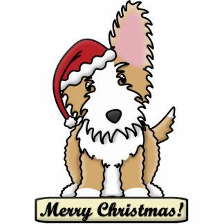 Cartoon Portuguese Podengo Christmas Ornament Acrylic Cut Outs