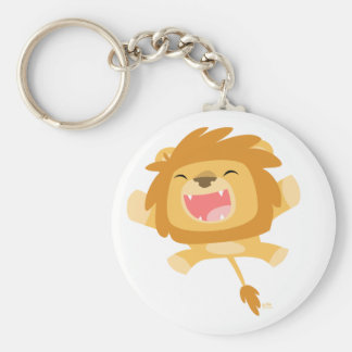 Cartoon Pouncing Lion keychain