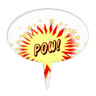Cartoon Pow Cake Topper