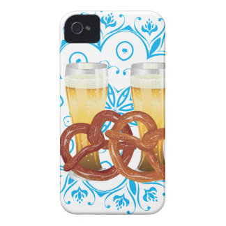 Cartoon Pretzel with Beer 2 iPhone 4 Cover