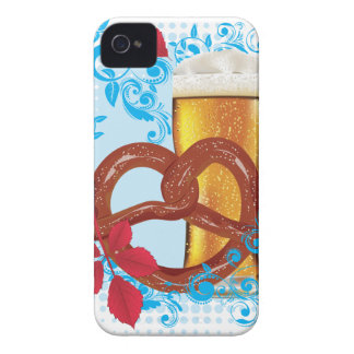 Cartoon Pretzel with Beer 3 iPhone 4 Case-Mate Case