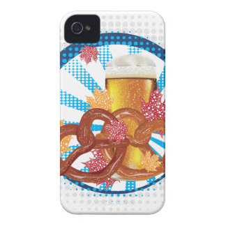 Cartoon Pretzel with Beer iPhone 4 Case-Mate Case