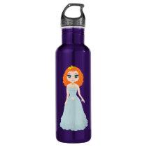 cartoon princess pattern- water bottle