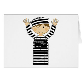 Cartoon Prisoner Greeting Card